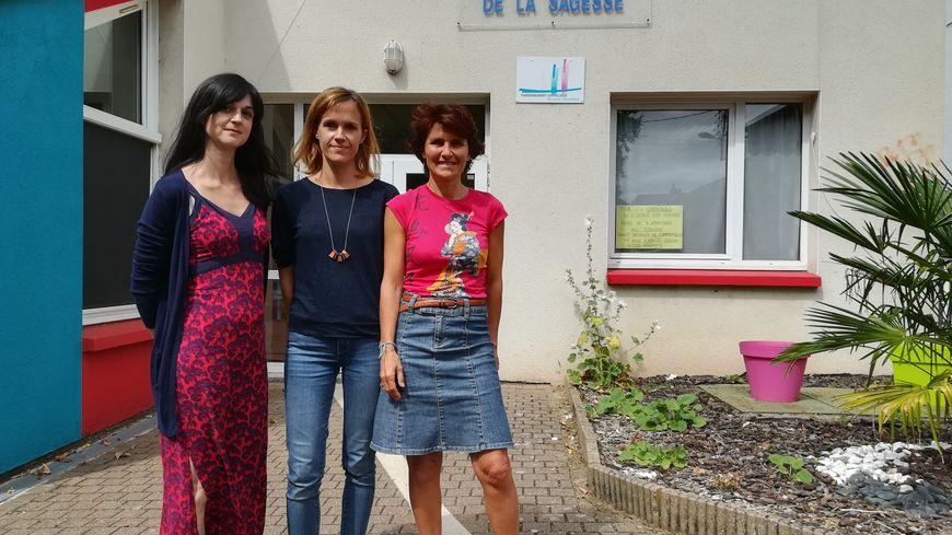 Marguerite Bedon, directrice de l'école, avec Sophie Pilven et Séverine Grimaud, enseignantes.