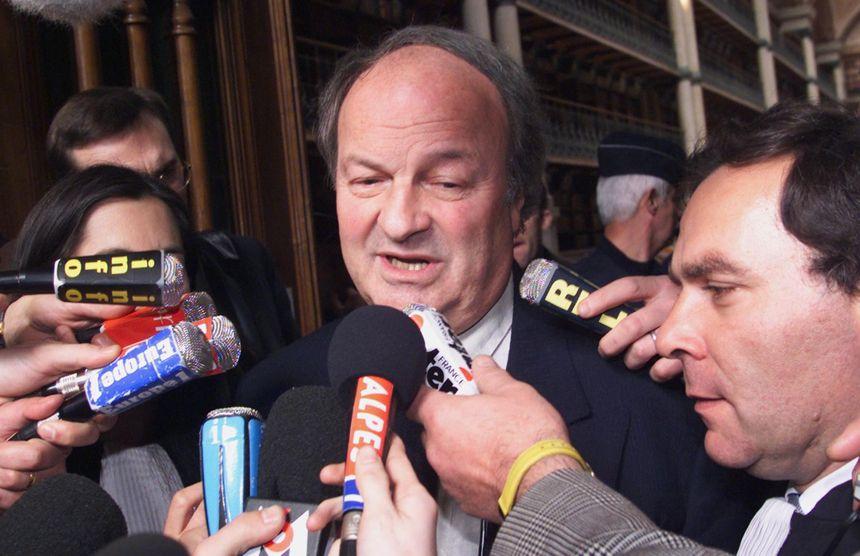 Le chef d'orchestre Michel Tabachnik et son avocat Francis Szpiner lors du procès en première instance.