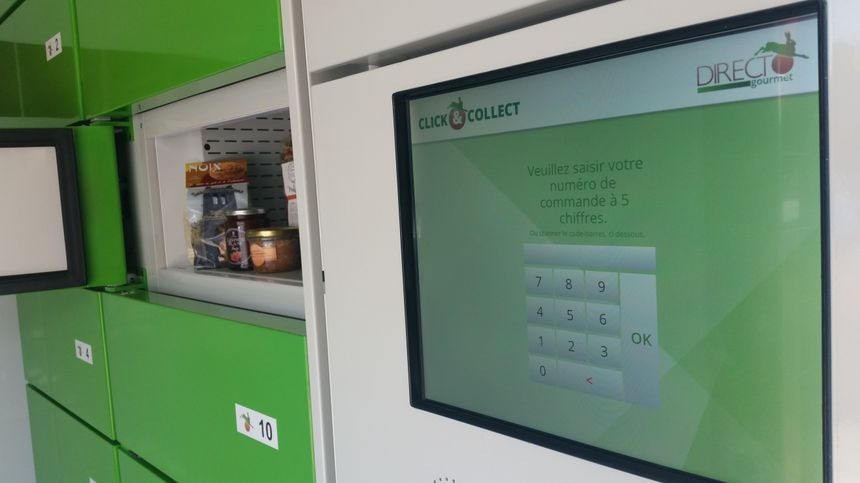 Un code unique permet à la fois d'ouvrir le local pour accéder au drive, et de retirer sa commande