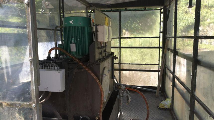 La machine qui permet l'ouverture des vannes