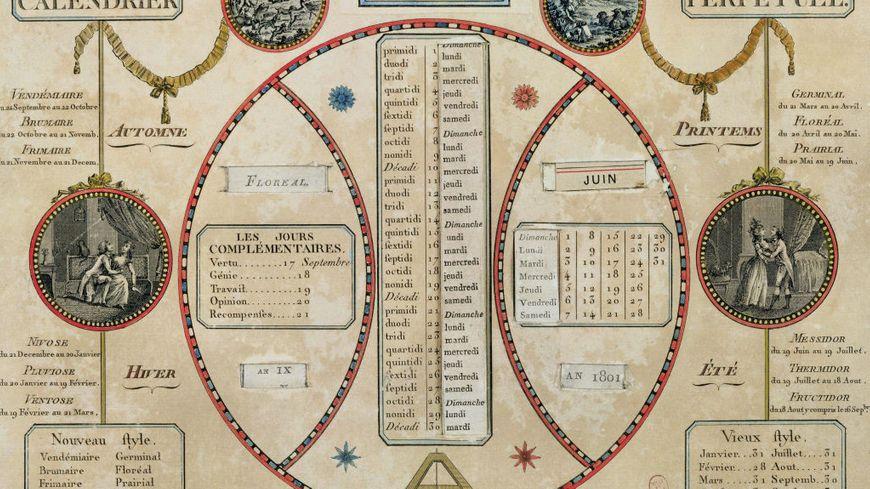 Le Calendrier Revolutionnaire.En 1792 Les Francais Decouvrent Le Calendrier Revolutionnaire