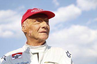 Niki Lauda en juin 2018, pour la Course des Légendes, en ouverture du Grand Prix d'Autriche de Formule 1