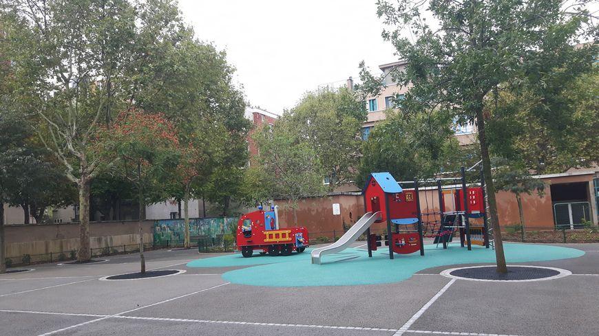 A l'école maternelle Charles Hermite, dans le 18ème arrondissement de Paris