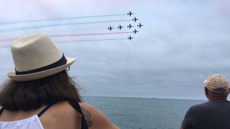 La patrouille de France dans le ciel de Saint-Cyprien
