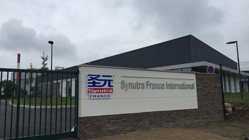 L'entrée de l'entreprise Synutra à Carhaix