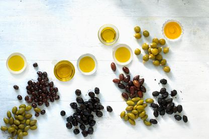 Différentes huiles d'olive