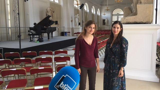La pianiste Maroussia Gentet et Aurélie Bazot, Vice-Présidente du Festival de l'Orangerie