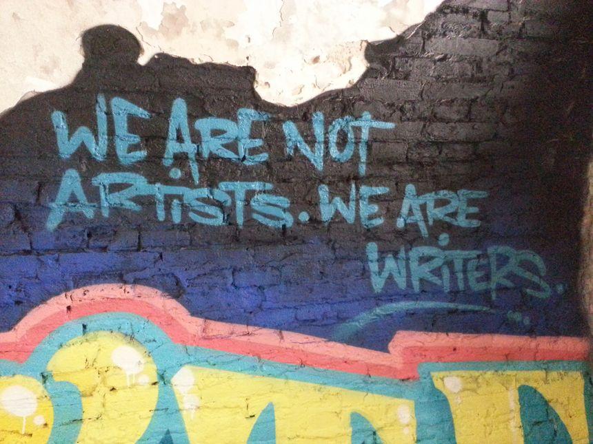 Un message laissé par les artistes