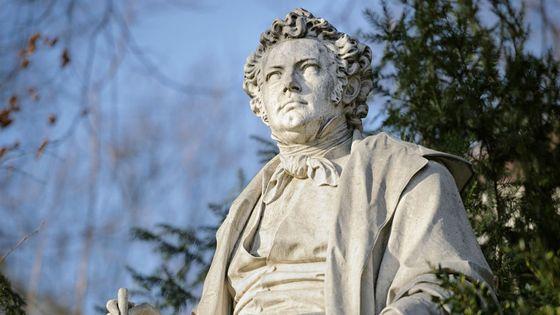 Statue de Franz de Schubert au Stadtpark de Vienne (Autriche)