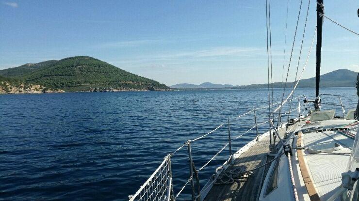 Le bateau est arrivé en Sardaigne