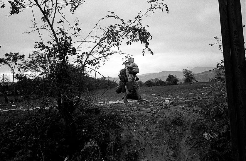 Tobanovce en Macédoine, à la frontière avec la Serbie. Automne 2015