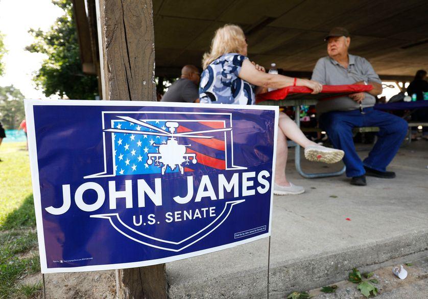 Réunion publique d'un candidat républicain pour le Sénat, dans le Michigan, 5 août 2018