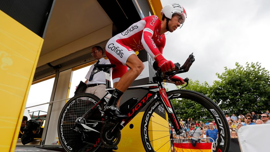 Nicolas Edet (Cofidis) sur le Tour de France 2018.