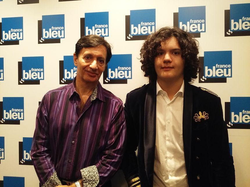 Jean-Pierre Marongiu et l'un de ses fils à France Bleu Lorraine