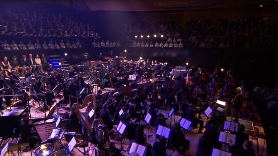 capture d'écran du concert filmé