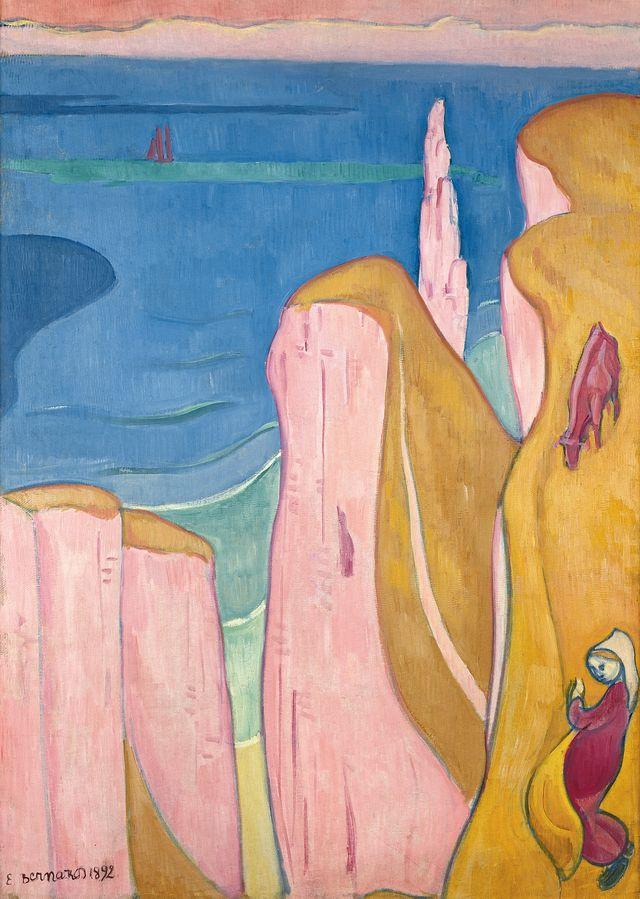 Emile Bernard Les falaises d'Yport