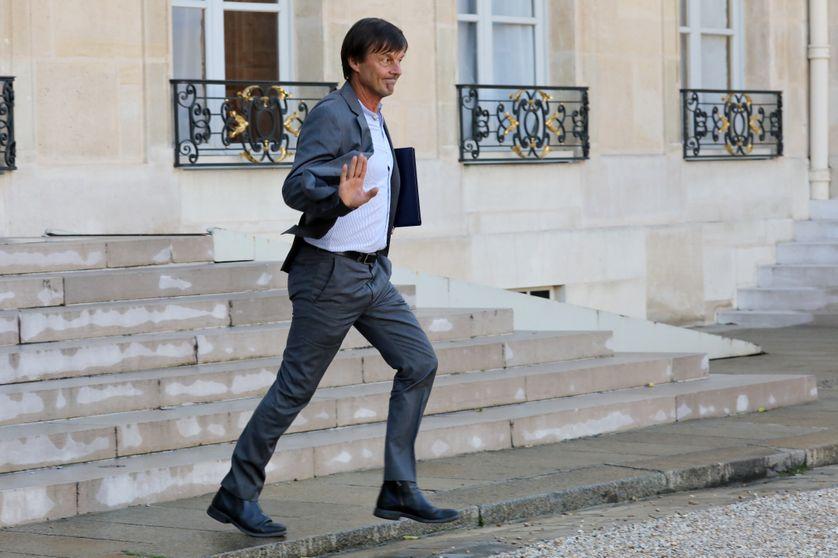 Nicolas Hulot, sortant de l'Elysée après une réunion, le 14 septembre 2017.