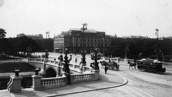 La ville de Goteborg en Suède et son Opéra en 1900