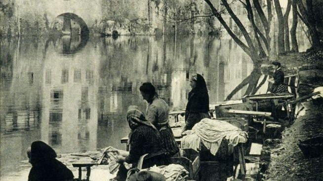 Blanchisseuses sur la rivière Agout