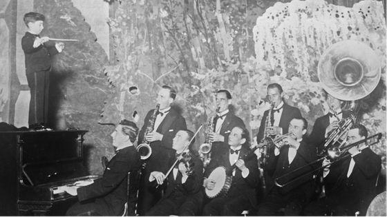 Sidney Célar, 6 ans, et son orchestre (photographie de presse, Agence Rol) 1926