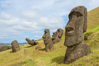 Moaï sur l'Île de Pâques