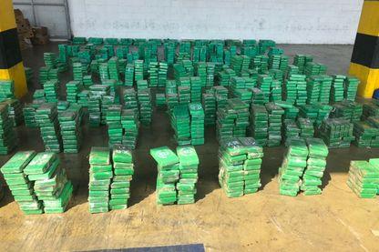 L'une des prises record de cocaïne que les forces de sécurité antidrogue réalisent régulièrement. Cette cargaison était en partence pour la Belgique