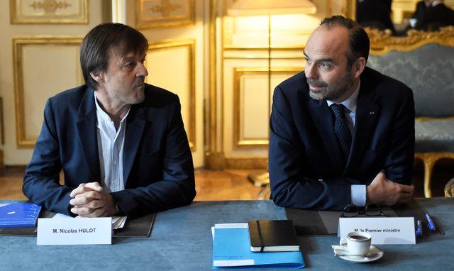 Nicolas Hulot et Edouard Philippe, le 5 janvier 2018 à Matignon