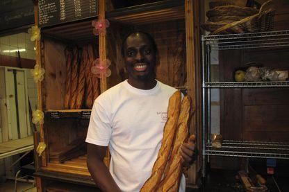 Djibril Bodian, laureat de la meilleure baguette de Paris le 26 mars 2015