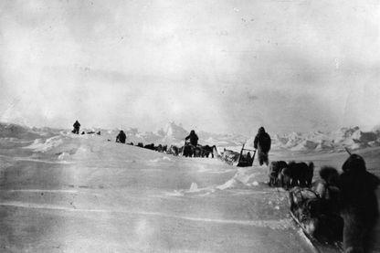 L'expédition nordique de 1908 menée par l'explorateur américain Robert Edwin Peary