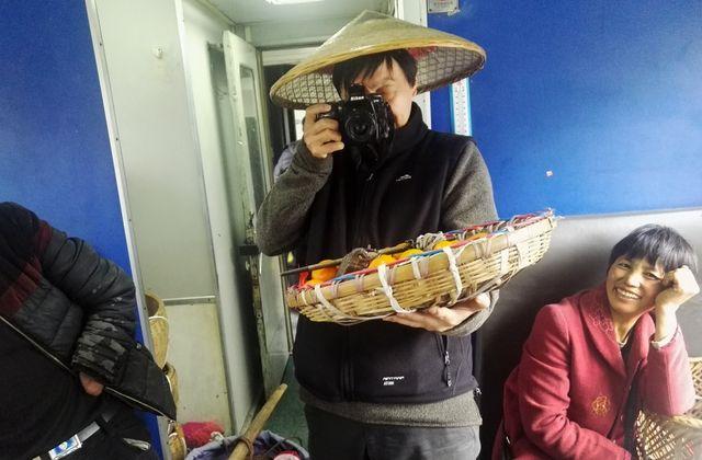 Photo de Qian Haifeng dans le Train Vert