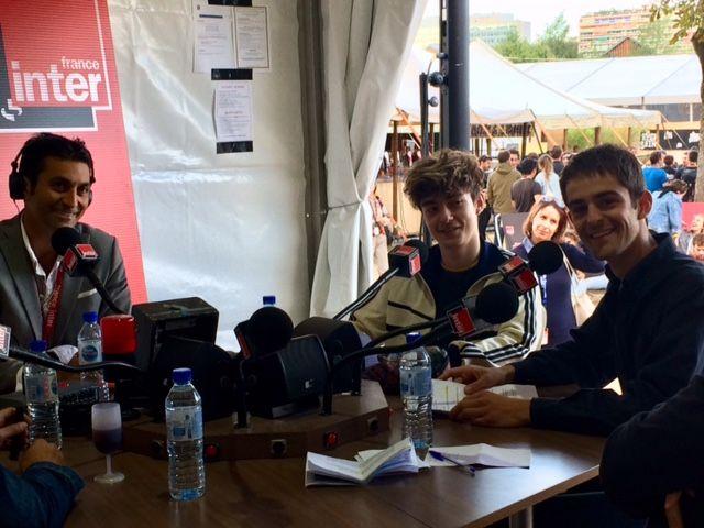Guillaume et Victor, les deux stagiaires du Club estival en direct du Festival Rock en Seine