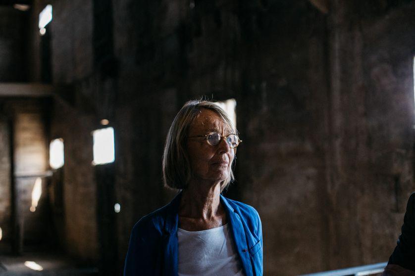 Françoise Nyssen en visite au Camp des Milles le 23 août 2018