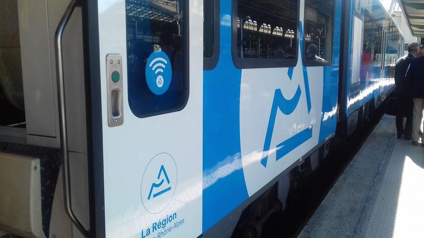 Un des trains à bord duquel le Wi-Fi est testé