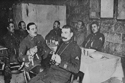Veillée de Noël dans les bunkers de Fort Douaumont en 1916