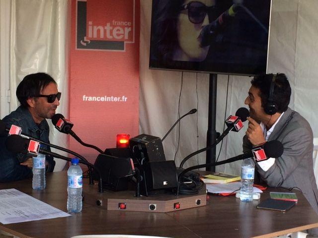 Samuel Benchetrit avec Emmanuel Khérad dans le Club estival au Festival Rock en Seine