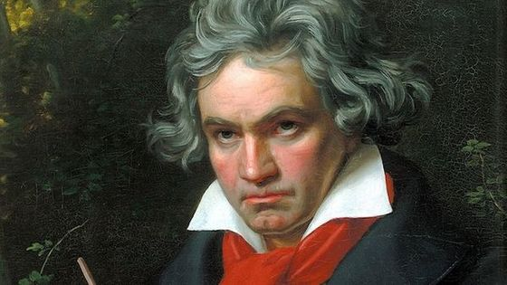 Portrait de Ludwig van Beethoven composant Missa Solemnis par Joseph Karl Stieler