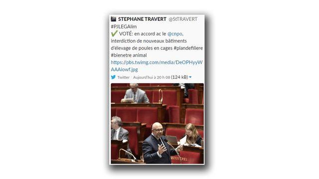Tweet supprimé du ministre de l'Agriculture Stéphane Travert