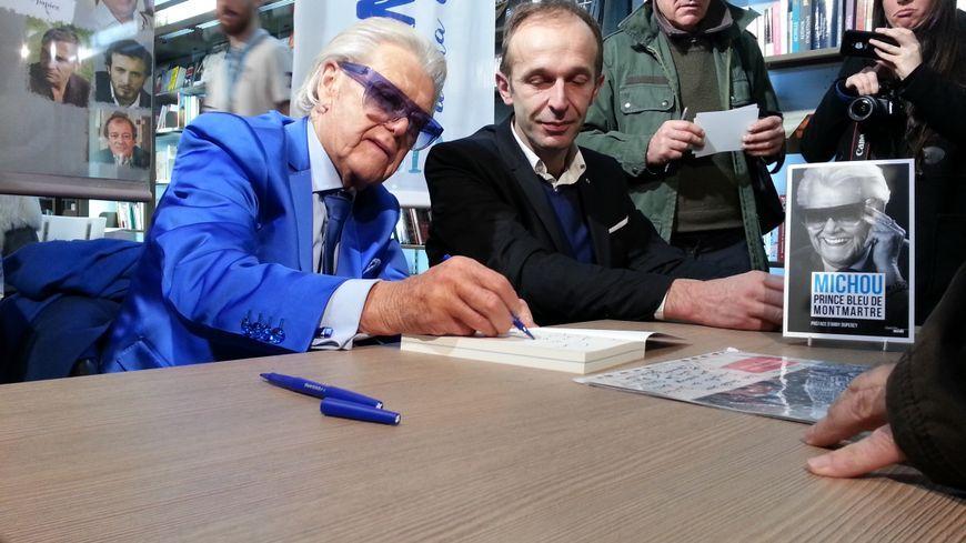Michou est revenu à Amiens en décembre 2017 pour signer son autobiographie.