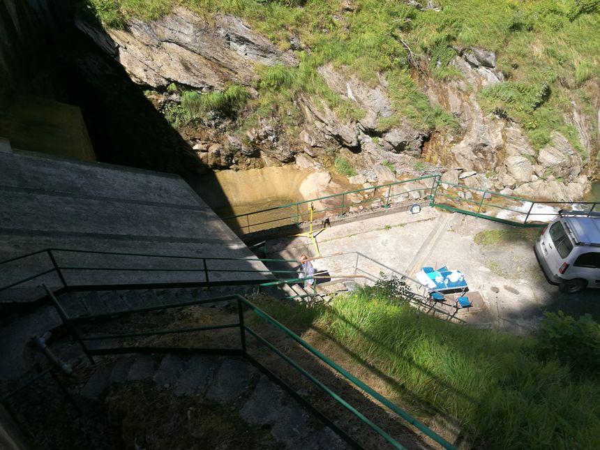 Depuis le haut du barrage