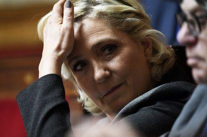 Marine Le Pen à l'Assemblée nationale en juin 2018