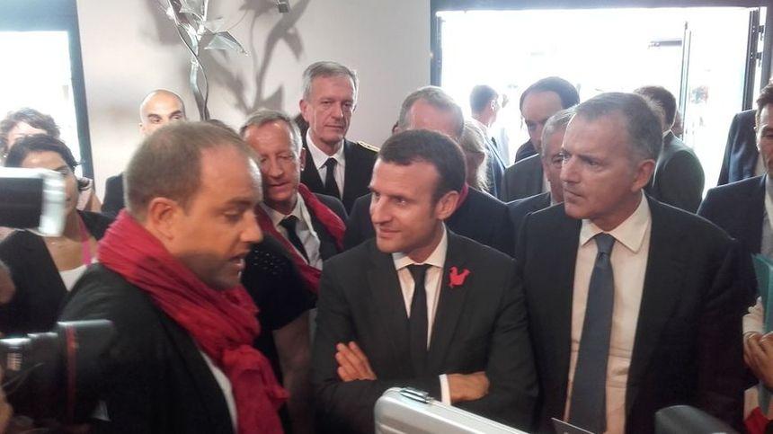 Emmanuel Macron au théatre de Laval pour la French Tech en juillet 2016