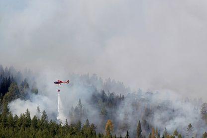 D'inhabituels feux de forêts font rage cet été en Scandinavie, et plus particulièrement (comme ici, sur la photo) en Suède.
