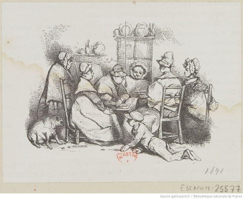 """Dessin d'Henry Monnier pour """"Les Français peints par eux-mêmes"""", 1840-1842"""