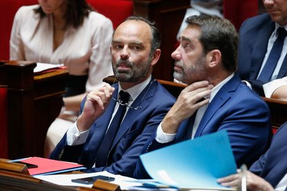 Edouard Philippe Premier Ministre lors du débat et du vote de deux motions de censure après l'affaire Alexandre Benalla, dans l'hémicycle de l'Assemblée Nationale. Paris, 31 août 2018