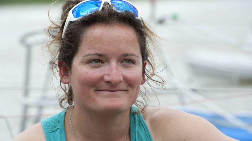 Sophie Faguet, skippeuse de 31 ans participe pour la quatrième fois à la course.