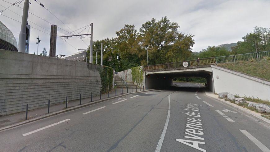 Le passage souterrain Valmy-Malakoff à côté du stade des Alpes à Grenoble