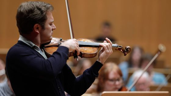 Le violoniste Renaud Capuçon en concert à la Philharmonie de Cologne (avril 2017)