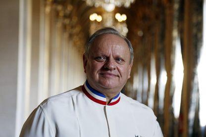 Joël Robuchon le 14 janvier 2016 à l'Hôtel de Ville de Paris lors de la remise du Grand Vermeil, récompensant les meilleurs chefs parisiens