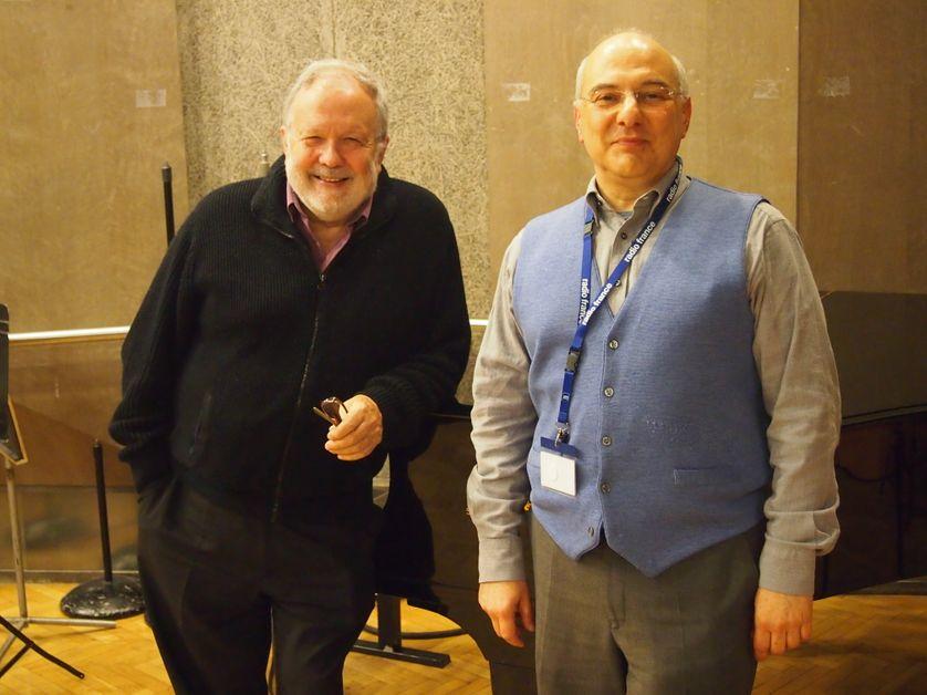 Jean-Claude Pennetier et Alexis Chryssostalis au studio 107