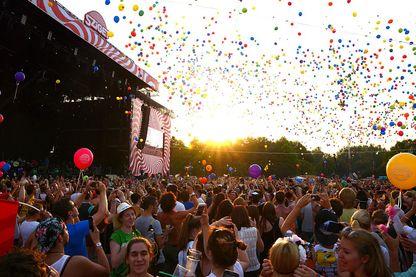 Sziget festival à Budapest (Hongrie) pendant l'été 2015